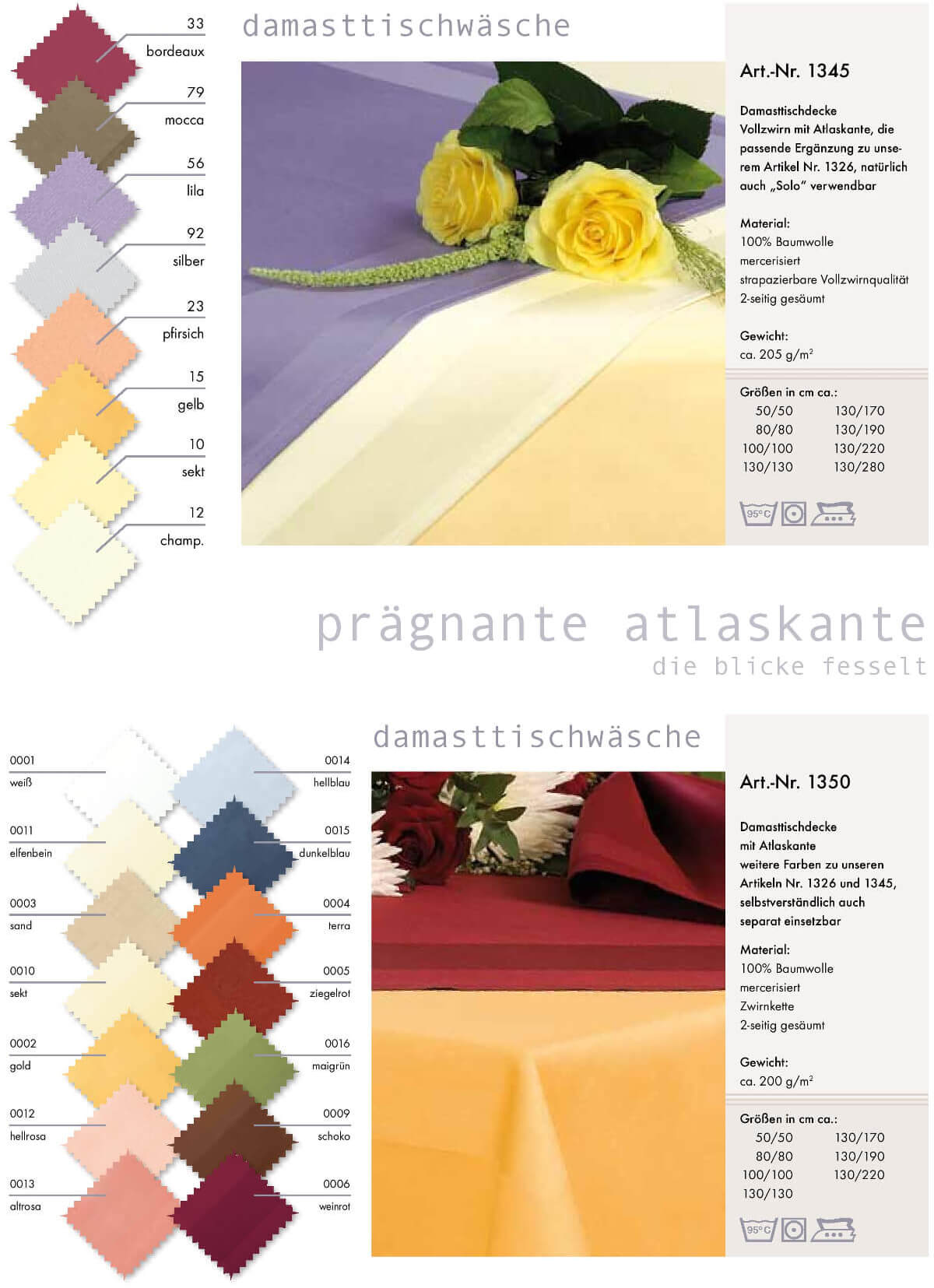 damast textil color